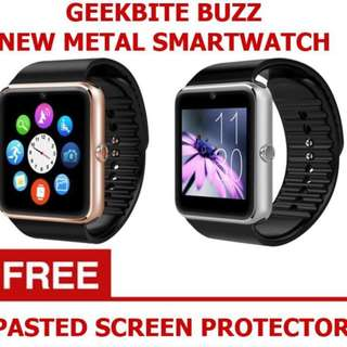 *FREE MAILING*INSTOCKS*GeekBite Buzz Metal Smartwatch With Bluetooth, Touchscreen & Many Features