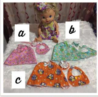 Baby alive dress up set
