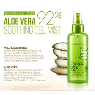 [ Nature Republic ] Soothing & Moisture Aloe Vera 92% Soothing Gel Mist 150ml
