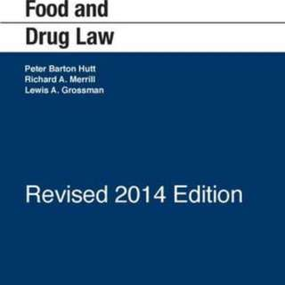 "PR5301 Textbook ""Food and Drug Law Cases and materials"" 4th Ed"