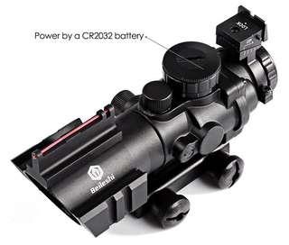 4x32 Acog Riflescope 20mm Dovetail Reflex Optics Scope Tactical Sight For Hunting Gun Rifle Airsoft Sniper Magnifier Air Gun