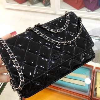 Chanel so black 扣全黑Wallet on chain🐾WOC🤟🏻基本新品同樣🔥