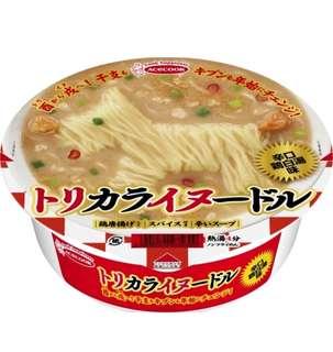 日本辛口雞白湯味杯麵