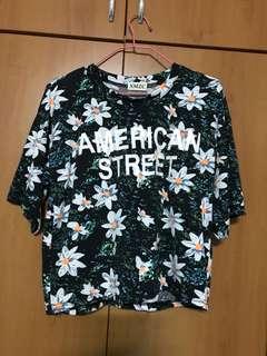 American street floral top