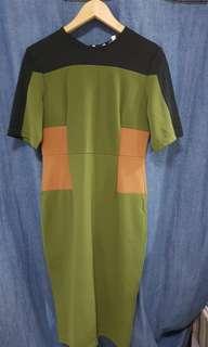 Victoria Beckham Green Dress