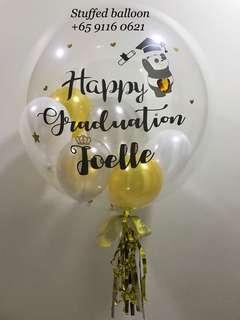 Convo balloon, graduation balloon, customized balloon, bubble balloon, 24 inch clear balloon