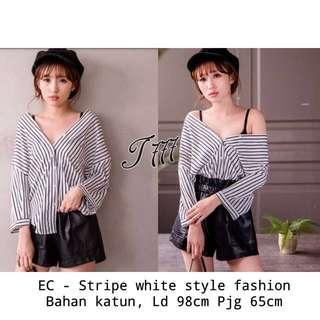 Sabrina stripe fashion top