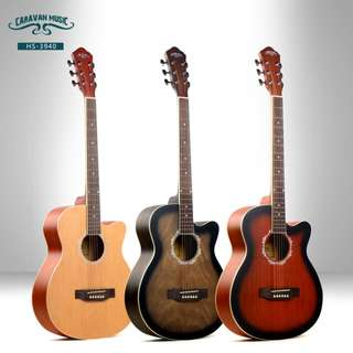 Caravan Music Acoustic Guitars (Spruce, Willow and Sapele Top)