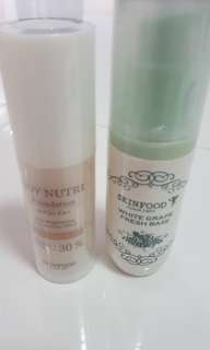 (Fast track all for $15) Skinfood fresh base and soy nutri foundation