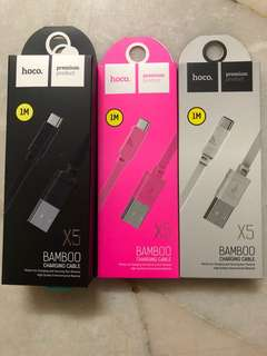 Hoco X5 Bamboo Type-C Charging Cable - Free Delivery