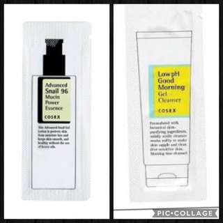 CosRx Snail Essence and CosRx Good Morning Cleanser Sample