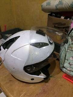 helm kyt putih size L half