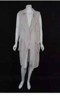 Zara long vest with pockets