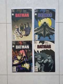 DC Comics Batman 404 to 407 Complete Year One Story Near Mint Condition Arc Frank Miller