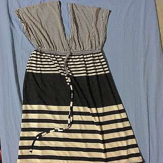 Striped Black and White Dress