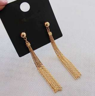 Instock! E22 Elegant Golden Chain Earrings