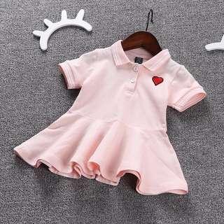 👧🏻(PO) Polo Heart Dress for Baby Toddler Girl