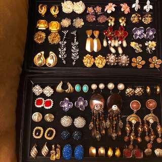西洋古董飾品 / 夾式耳環   NT.199-699 請發問