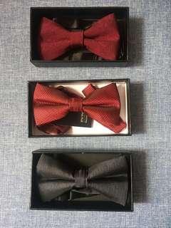 Bow Tie 煲呔 每款$15_中間紅色款有牌全新未用