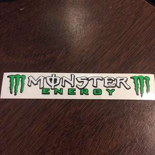 Monster Energy AGV visor sticker/decal
