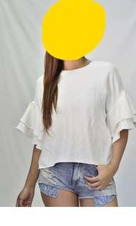 Zara Ruffled Sleeves