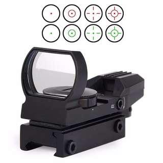 New 11mm/20mm Dot Rail Hunting Softair Viewfinder Optical Scope Holographic Red Dot Viewfinder Reflex 4 Pattern Gun Accessories