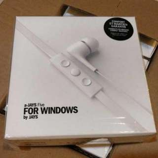 Brand New Authentic White a-jays 5 for Windows with FOC Comply Ear Tips (Worth USD 19.9)