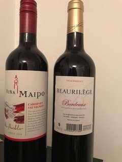 2 x red wine