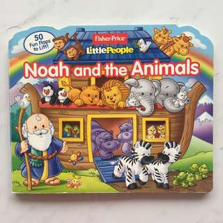 $10 Fisher Price Lift the Flap Noah & the Animals book