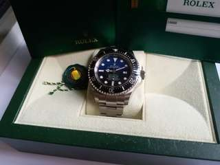 (Sold)勞力士Rolex 116660 Sea-Dweller DeepSea blue 漸藍95新亂碼卡