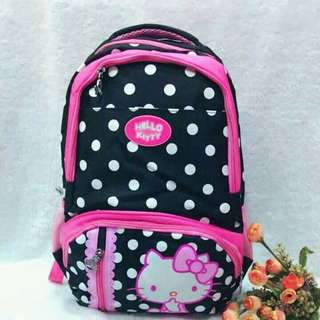 Hellokitty backpack   🎀size:17x14inches 🎀canvass type