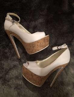 BN White Marco Gianni Heels