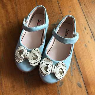 Girl's Shoes Zakka style from Korea in pale blue and Ribbon pumps maryjane flats