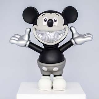 Ron English Mickey Mouse Rodent Grin Monotone Platinum Version - Rare