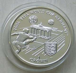 Isle Of Man 2006 Fifa World Cup Germany I Crown Silver Proof Coin With COA