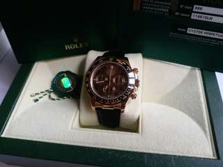勞力士 Rolex 116515 LN Daytona 朱克力面亂碼卡95新888