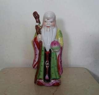南極仙翁壽星公陶瓷佛像