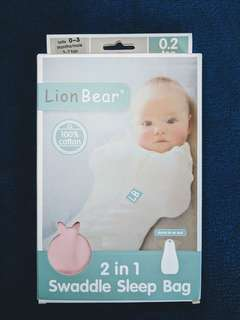 Lion Bear's 2 in 1 swaddle sleep bag