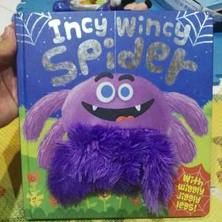 Incy Wincy Spider book with wiggly jiggly legs