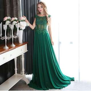 Evening Dress With Crystals Long Prom Dress 2018 Party Gown