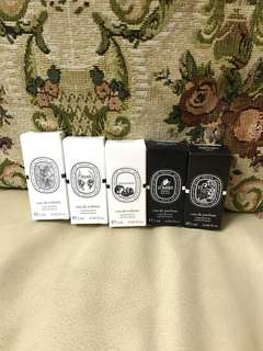 全新 DIPTYQUE 香水 試用 sample perfume   Eau De Parfum EDP spray  L'Ombre Dans L'Eau 影中之水Anno 1983 Do Son   Eau De Toilette EDT Spray Olene Philosykos Vetyverio