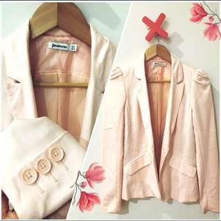 Stradivarius pink pastel blazer
