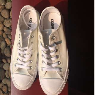Converse Low Leather OX Full White 100% Authentic