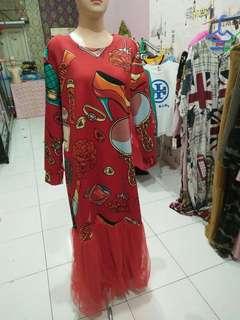 dres cantik merah