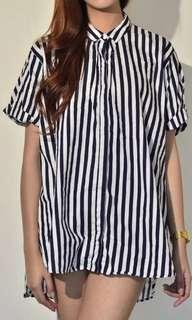Zara Striped SL Blouse