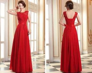 Long Evening Dress Bridesmaid Coral Stunning Prom Dress