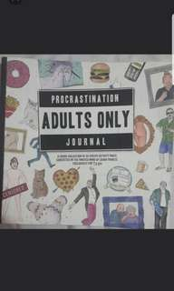 *CLEARANCE* Procrastination Adults Only Journal/Colouring Book (Typo)