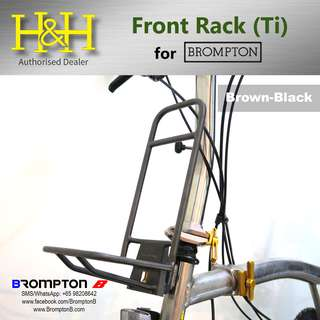 H&H Titanium Front Rack (Black) for Brompton
