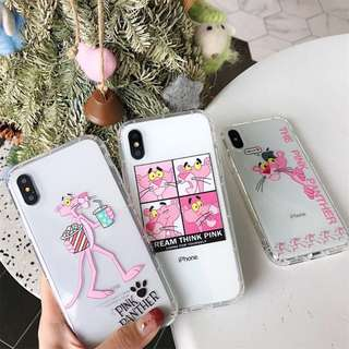 SOFT CASE IPHONE MOTIF PINK PANTHER