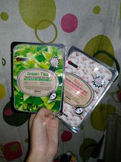 2 KOREAN FACE MASKS